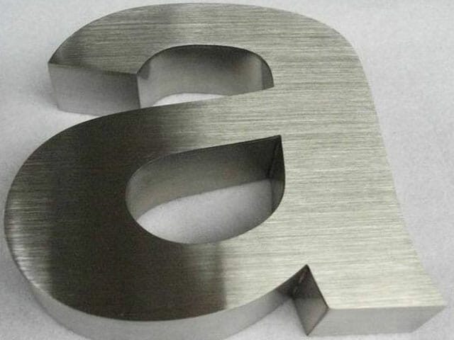 Brushed Aluminum Metal Letters