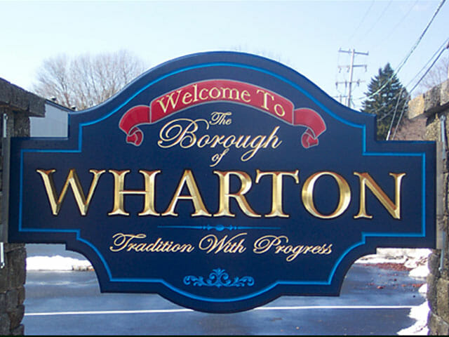 Carved Sign for The Borough of Wharton