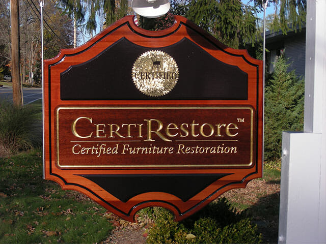 Carved Sign for CertiRestore