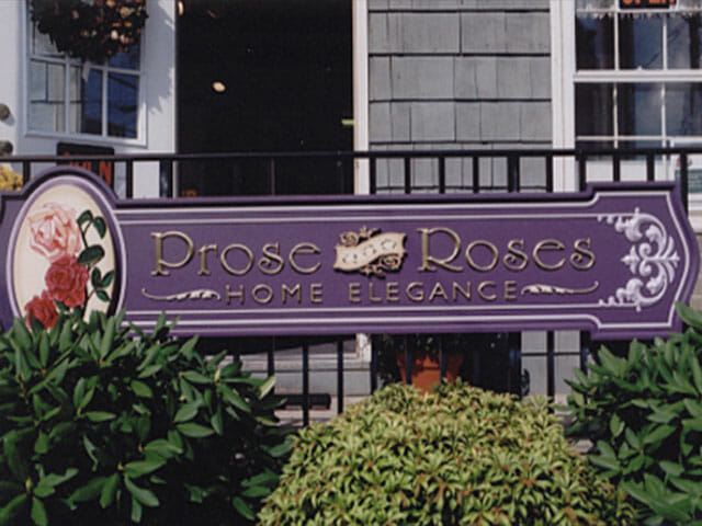 Carved Sign for Prose Roses