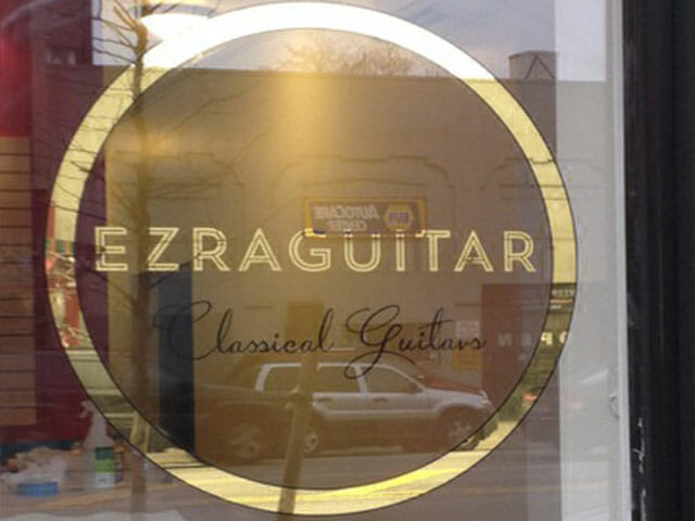 Gold Leaf Sign for Ezra Guitar