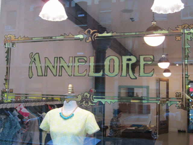 Gold Leaf Sign for Annelore