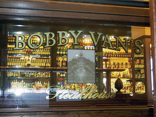 Gold Leaf Sign for Bobby Van's Steakhouse