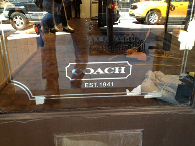 Gold Leaf Sign for Coach