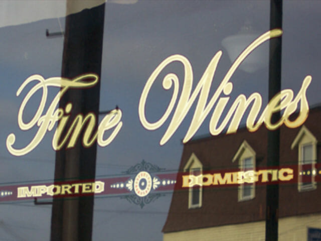 Gold Leaf Sign for Fine Wines Boutique