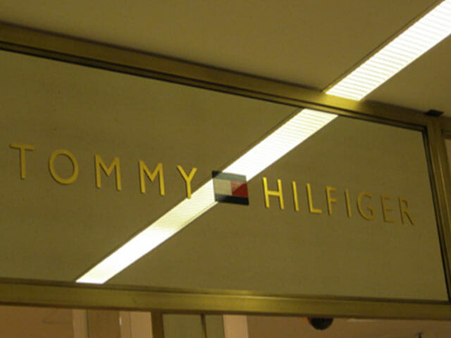 Gold Leaf Sign for Tommy Hilfiger