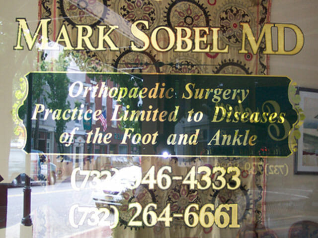Gold Leaf Sign for Mark Sobel MD