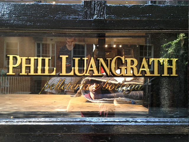 Gold Leaf Sign for Phil Luangrath
