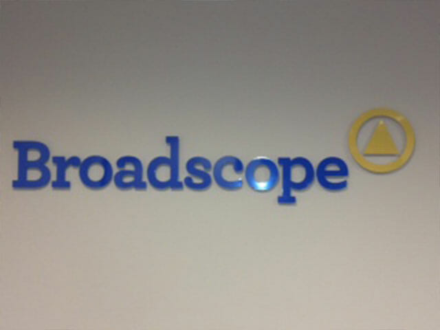 Wall Mounted Letters for Broadscape