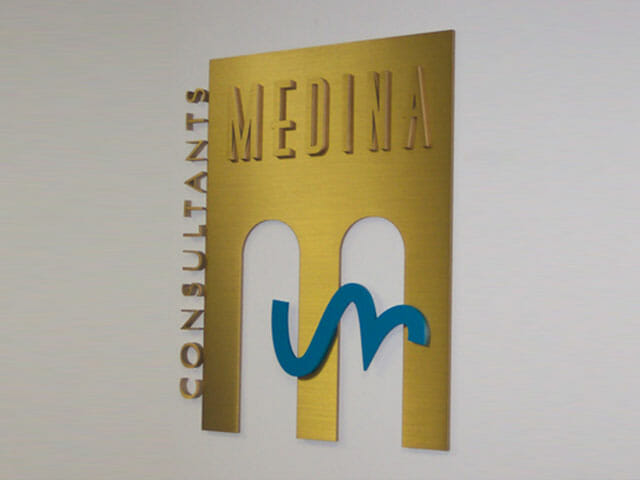 Plaque for Medina Consultants