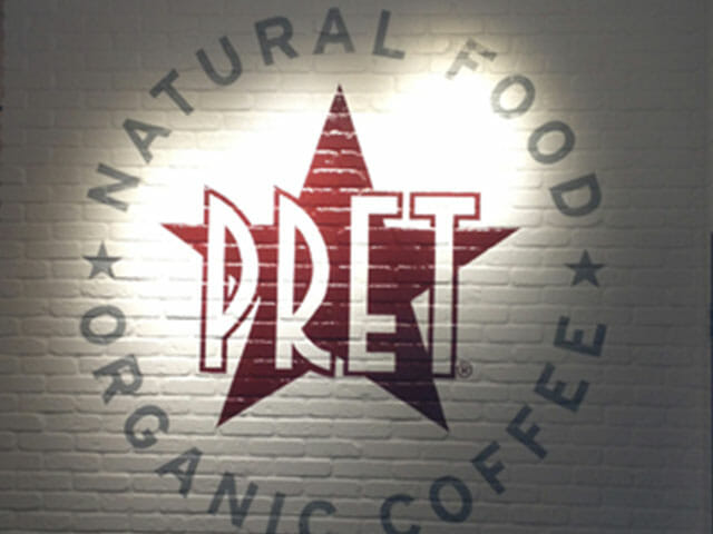Hand Painted Sign for Pret Natural Food