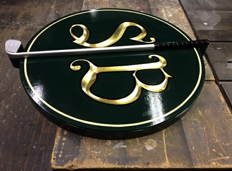 Golf club carved sign's